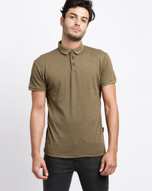 D-Struct Basic Slub Polo Khaki