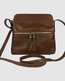 Icon Leather Genuine Leather Cross-Body Bag Brown