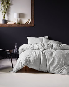 DISC Linen House Hemsworth Duvet Cover Set Grey Marle