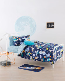 Linen House Zoom To The Moon Duvet Cover Set Multi