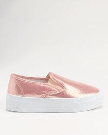 Legit Slip-on Metallic Platform Pink