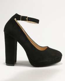 Legit Platform Court with Ankle-Strap Black