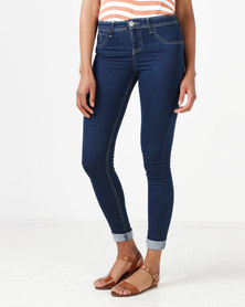 Legit Portia Push Up Skinny Jeans Stone Wash
