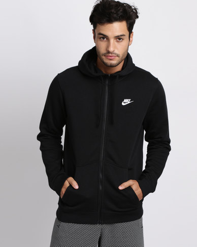 ae0f18b4e38d Nike Mens Nike Sportswear Hoodie Full Zip Fleece Club Black