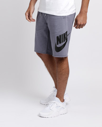 Nike Mens Nike Sportswear French Terry GX 1 Shorts Grey  6f16b44378d8