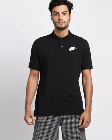 8975b618 Nike Mens Nike Sportswear Polo Pique Match Up Golfer Black | Zando