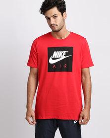 Nike Men\u0027s Nike Sportswear Air Sport Crew Tee Red