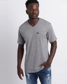 Quiksilver Karma Police V Neck T-Shirt Grey