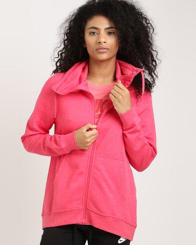 Nike Sportswear Women's Funnel Full-Zip Club Tropical Pink/Tropical Pink/White
