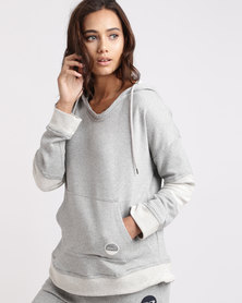 Roxy Cozy Chill Hoodie Sweatshirt Grey