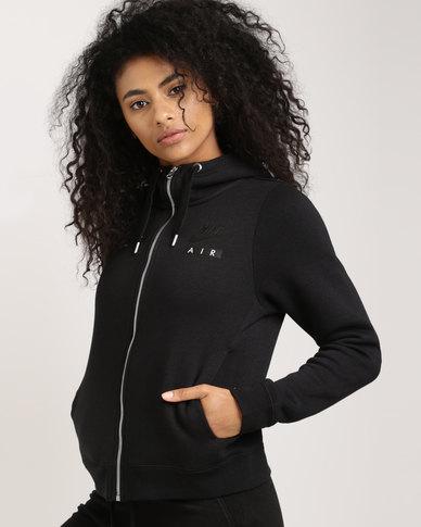 6583b9fe9ba Nike Sportswear Women s Rally Hoodie Full Zip Air Black