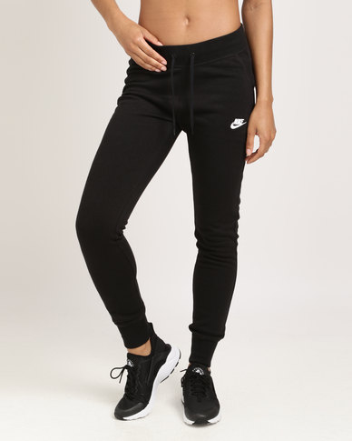 0cbb6ddf26 Nike Women Nike Sportswear Pant Fleece Tights Black White