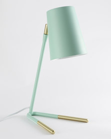 Illumina Dipped Studio Lamp Mint/Gold-tone