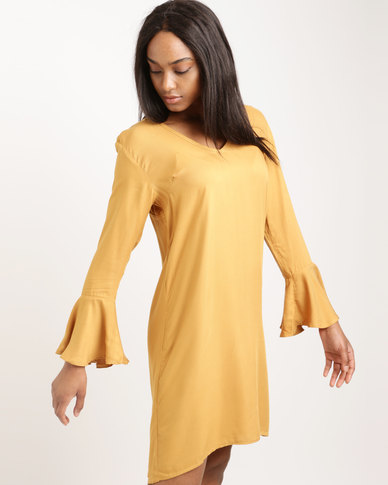 Utopia Viscose Dress Mustard