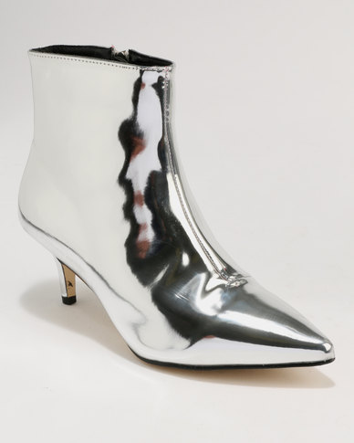 Footwork Footwork Whish Kitten Heel Ankle Boot Silver free shipping browse outlet cheap online rsht4f