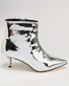 Footwork Whish Kitten Heel Ankle Boot Silver