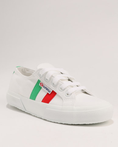 6a8e13d50555 Superga Italian Flag Classic Canvas Sneaker White