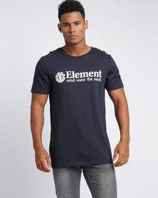 Element Level SS Tee Blue Indigo