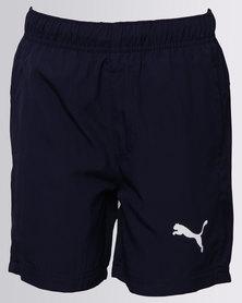 "Puma Boys Essential Woven Shorts 5"" Navy"