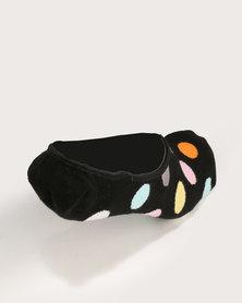 Happy Socks Big Dot Liner Socks Black Multi