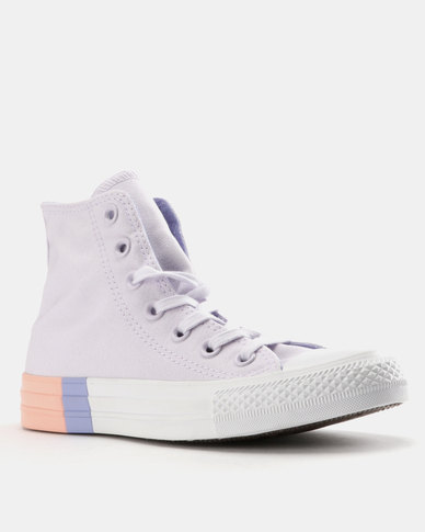 559a26d6bfb9cd Converse Chuck Taylor All Star Tri-Block Midsole Barely Grape Twilight  Pulse Pale Coral