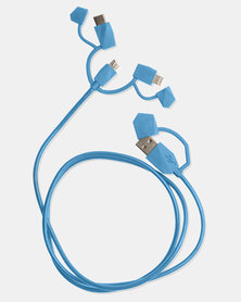 ODT Calamari 2.0 3-IN-1 Charge Cable Electric Blue
