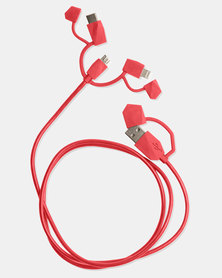 ODT Calamari 2.0 3-IN-1 Charge Cable Red