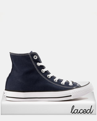 3288dd67936f Converse Mens Chuck Taylor All Star Hi-Tops Navy