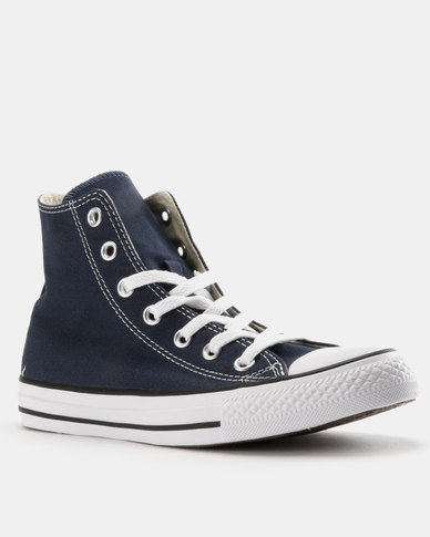 00dea7ad2bd73f Converse Mens Chuck Taylor All Star Hi-Tops Navy