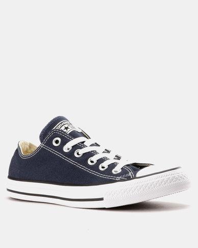 338dab0584b Converse Mens Chuck Taylor All Star Lo Sneakers Navy