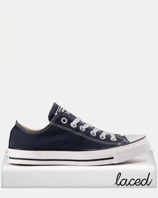 428accdf47b7 Converse Mens Chuck Taylor All Star Lo Sneakers Navy