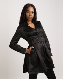 G Couture Trench Coat Black