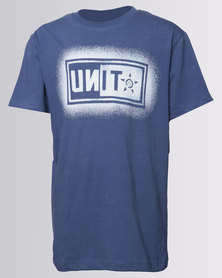 UNIT Vindicate Youth Tee Blue