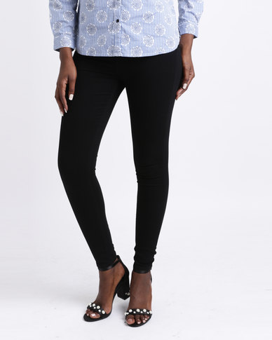 Queenspark Woven Jeggings Black