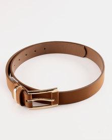 Queenspark Classic Warm Handle Belt Tan