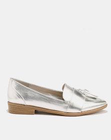 Madison Colton Tassel Loafer Silver