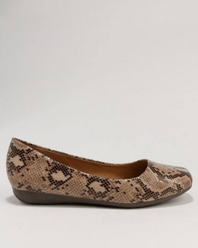 Franco Ceccato Baldini Square Toe Flat Pump Taupe professional sale online manchester great sale cheap price buy cheap newest very cheap price free shipping pay with paypal 9q0R0h