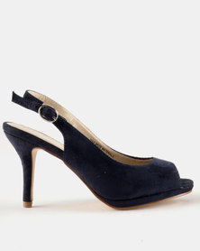 Queue Platform Sling Back Navy