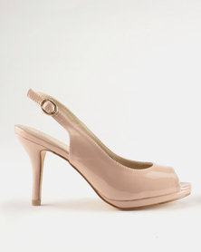 Queue Platform Sling Back Blush