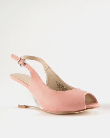 Queue Sling Back Wedge Pink