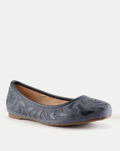 Queue Embellished Pump Rose/Navy