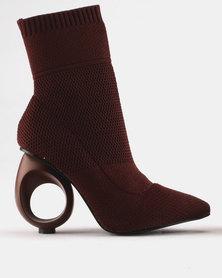 PLUM Sinti Round Heel Boot Burgundy
