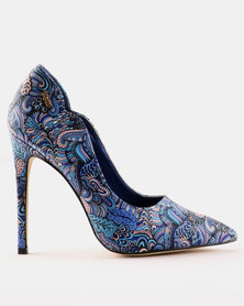 PLUM Paisley Printed Court Blue