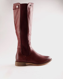Miss Black Route 66 Rider Boot Burgundy