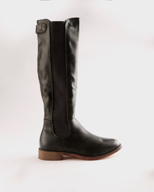 for sale clearance amazing price Miss Black Miss Black Rainer Knee Flat Boot Taupe popular online QAjdlW1gO