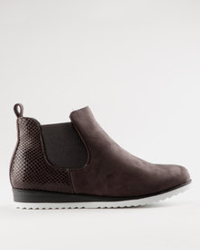 Miss Black Brienne Ankle Boot Grey