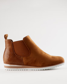 Miss Black Brienne Ankle Boot Tan