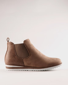 Miss Black Brienne Ankle Boot Taupe