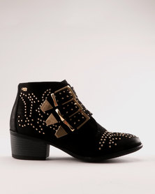 Miss Black Alishba Ankle Boot Black