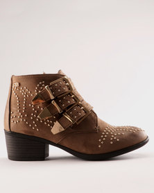 Miss Black Alishba Ankle Boot Taupe